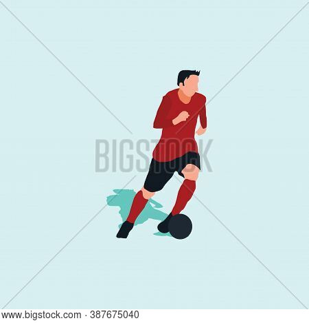 Left Footed Well Dribbling - Shot, Dribble, Celebration And Move In Soccer