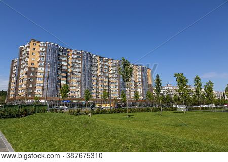 Dnepr, Ukraine - August 26, 2020: View Of New Houses On The City Embankment