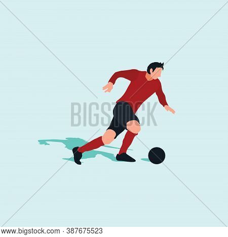 Right Footed Fast Dribbling - Shot, Dribble, Celebration And Move In Soccer