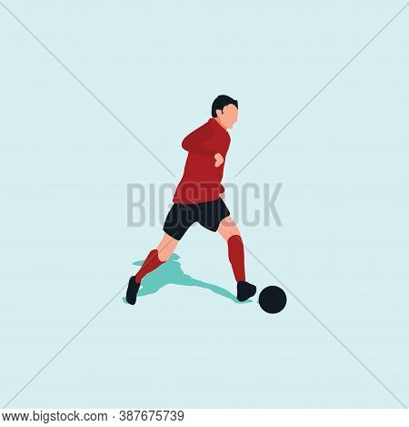 Left Footed Smooth Dribbling - Shot, Dribble, Celebration And Move In Soccer