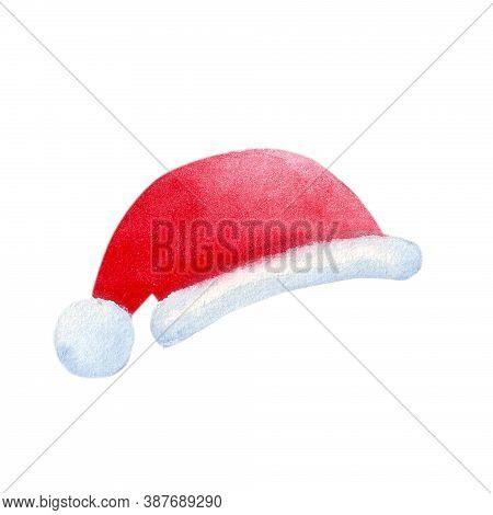 New Year And Christmas Paraphernalia. Santa Claus Hat
