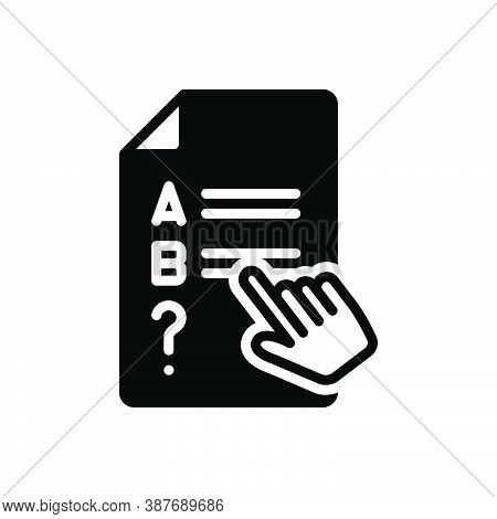 Black Solid Icon For Consider Mull Take-into-account Mull-over Presume Test Exam Choices Scheming St