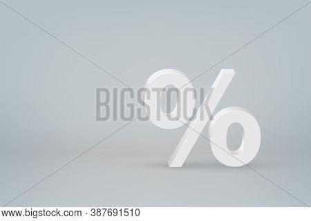 3d Percentage Mark Symbol On Scene Background Template For Your Design