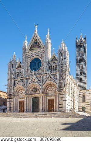 View At The Cathedral Of Santa Maria Assunta (assumption Of Mary)in Siena,italy