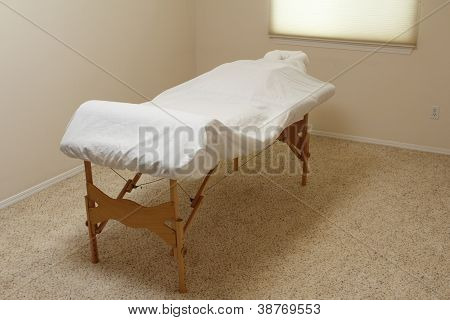 Massage Table In A Treatment Room