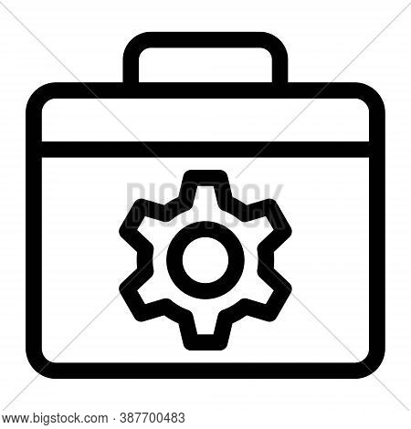 Tools Box Icon In Line Style. Vector Illustration.