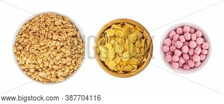 Yellow Corn Cereal, Crispy Corn Flakes, Cornflakes Or Cereals