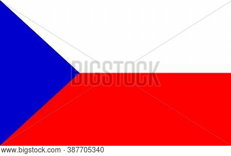 Flag Of The Czech Republic.. Vector Illustration