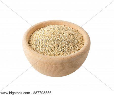 Quinoa Seeds Background Or Chenopodium Quinoa Isolated