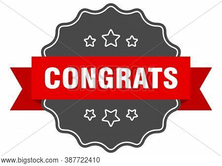 Congrats Label. Congrats Isolated Seal. Sticker. Sign