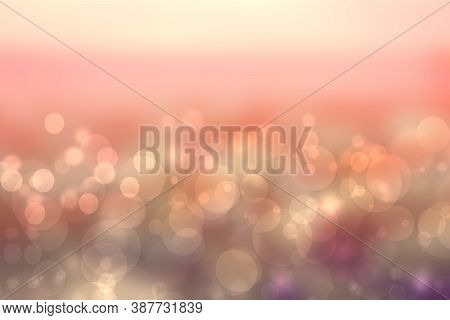 Abstract Sunset Illustration. Abstract Evening Or Sunset Mood Background Texture With Orange Pink Gr