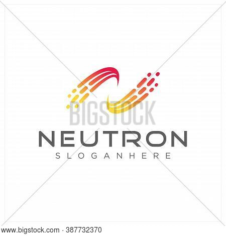 Abstract Letter N Logo Technology And Networking Design Template. Initial N Logo Digital Vector Stoc