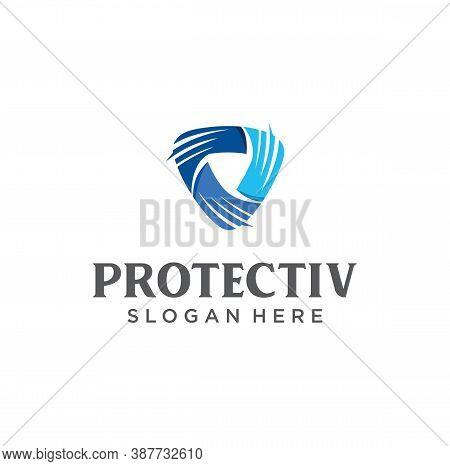 Cyber Security Shield Logo Design. Information And Network Safe Protection Logo Vector Design. Secur