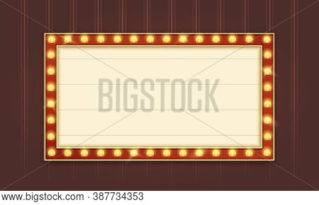 Retro Lightbox Template With Red Border And Straight Corners