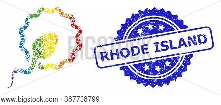 Bright Colorful Vector Cell Insemination Collage For Lgbt, And Rhode Island Dirty Rosette Seal Imita