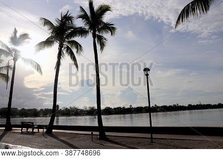 Lake Worth, Florida Intracoastal Waterway Sunrise Skyline