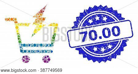 Spectrum Colorful Vector Proceed Purchase Collage For Lgbt, And 70.00 Textured Rosette Stamp. Blue S