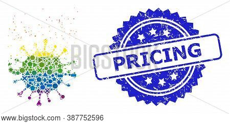 Spectrum Vibrant Vector Virus Dissipation Mosaic For Lgbt, And Pricing Rubber Rosette Seal Imitation