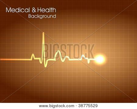 Cardiogram background. EPS 10.