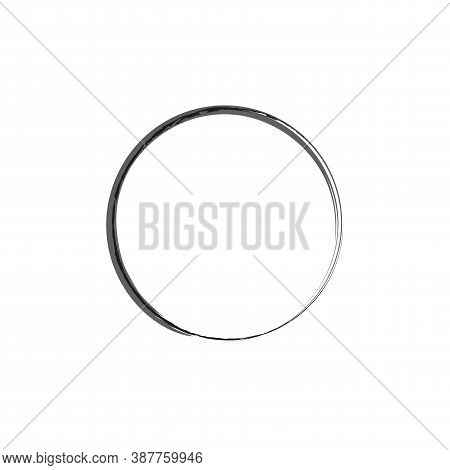 Enso Zen Symbol Vector Design. Logo, Emblem Design. Brush Drawn Buddhist Sign. Fine Art Element.stro