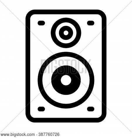 Sound System Icon Illustration. Column Bass Music Speakers Symbol.