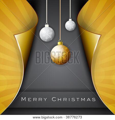 Beautiful Xmas balls for Merry Christmas celebration. EPS 10. poster