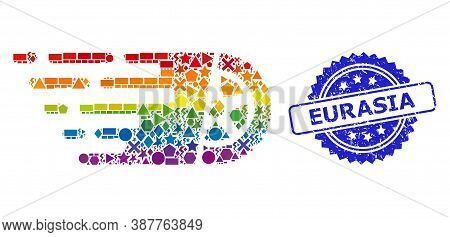 Spectrum Vibrant Vector Tire Wheel Collage For Lgbt, And Eurasia Unclean Rosette Seal Imitation. Blu