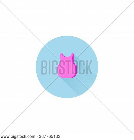 Singlet Colorful Vector Flat Icon With Long Shadow