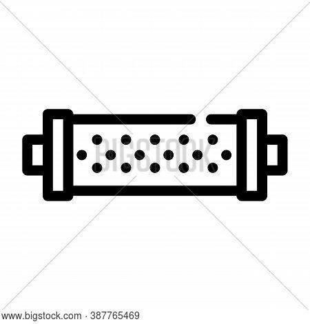 Water Strainer Line Icon Vector Black Illustration