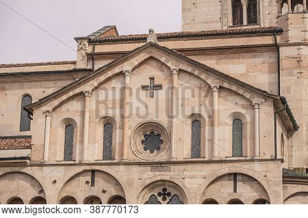 Architecture Detail Of Modena's Duomo In Italy