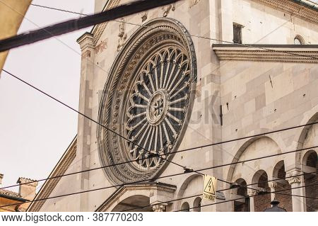 Architecture Detail Of Modena's Duomo In Italy 3