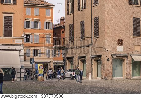 View Of Piazza Grande In Modena, Italy