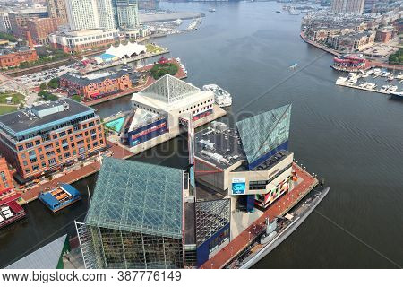 Baltimore, Usa - June 12, 2013: Aerial View Of Baltimore, Maryland. Baltimore Is The Largest City In