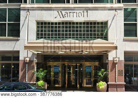 Philadelphia, Usa - June 11, 2013: Marriott Hotel In Downtown Philadelphia. Marriott International H
