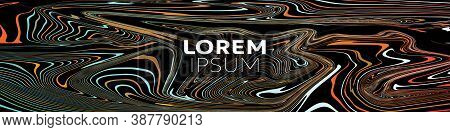Vector Abstract Background, Web Banner With Marble Red Color Paint Texture Mix On Black