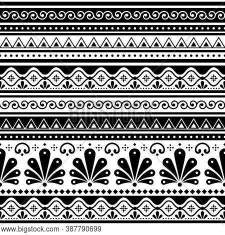 Talavera Poblana Vector Seamless Pattern Inspired By Traditional Mexican Decorated Pottery And Ceram