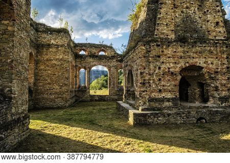 Ruins Of Iron Smelting Plant - Frantiskova Huta, Podbiel, Slovak Republic. Architectural Theme. Trav