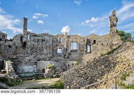 Povazsky Castle Ruins, Slovak Republic, Central Europe. Travel Destination.