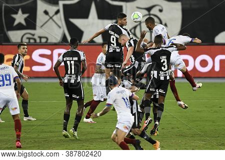 Rio, Brazil - September 30, 2020: Pedro Raul Player In Match Between Botafogo 1 And 2 Bahia By Brazi