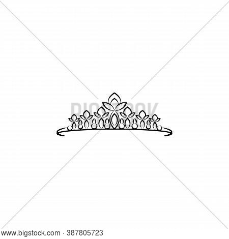 Diadem , Woman, Crown Line Icon. Signs And Symbols Can Be Used For Web, Logo, Mobile App, Ui, Ux