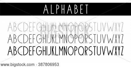 Thin Font. Futuristic Font. Cosmic Font. Vector Alphabet Set. Elegant Light Font. Minimal. Latin Alp