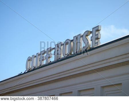 San Francisco, California - September 20, 2010:  Cliff House Sign On Top The Building.  The Cliff Ho