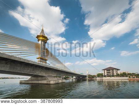 Maha Chesadabodindranusorn Bridge On Chao Phraya River In Bangkok, Thailand