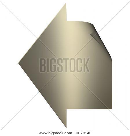 Gold Arrow Sticker