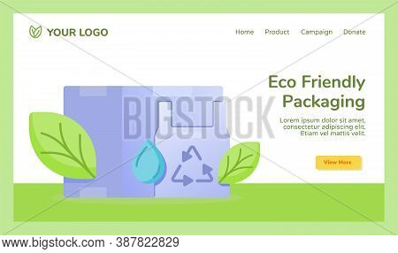 Eco Friendly Packaging Plastic Box Reduce Recycle Water Drop Leaf Campaign For Web Website Home Home