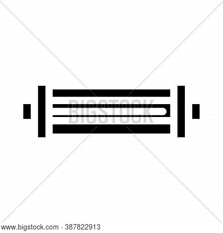 Water Strainer Glyph Icon Vector Black Illustration