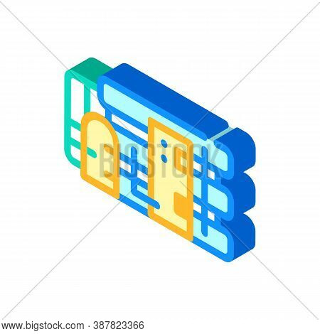 Filtration System Supply Isometric Icon Vector Illustration