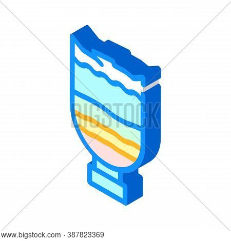 Water Filtration Through Sand And Coal Isometric Icon Vector Illustration