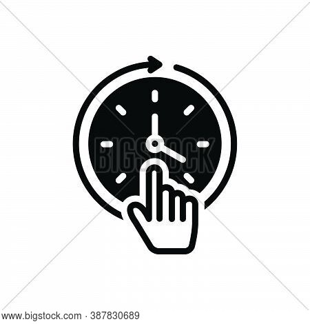 Black Solid Icon For Constant Consistent Continual Everyday Always Stable Stagnant Still Up-to-this-