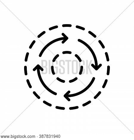 Black Solid Icon For Consistent Constant Consistency Dynamic Regular Stability Repeat Circle Circula